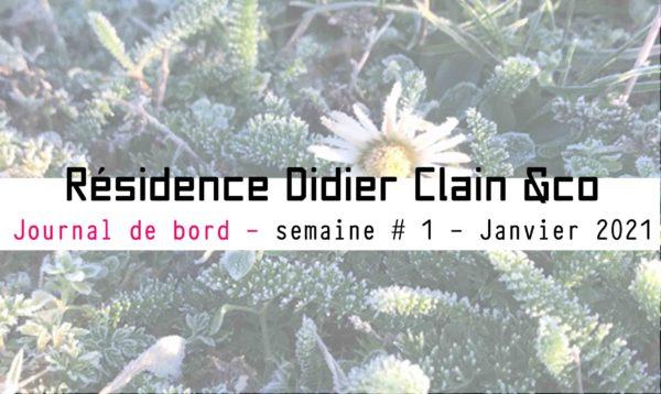 Récit d'une première session de la résidence d'immersion Didier Clain & co-Janvier 2021